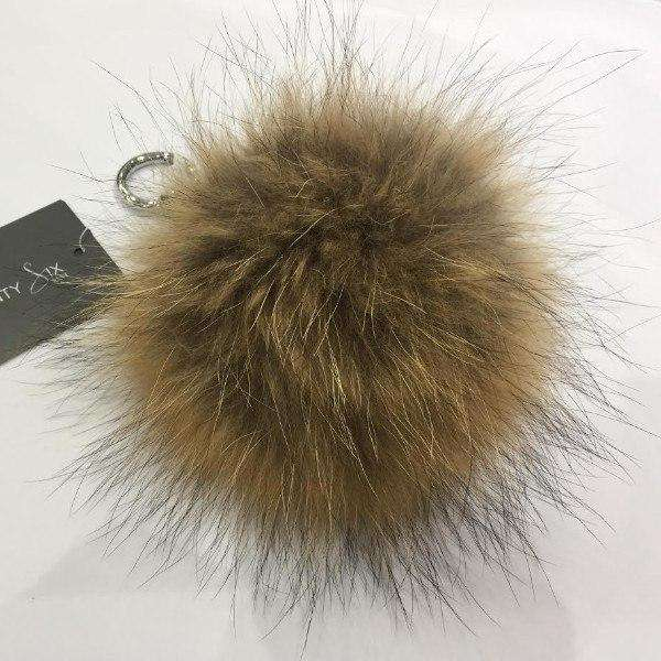 Fur MacLauren Keyring Natural