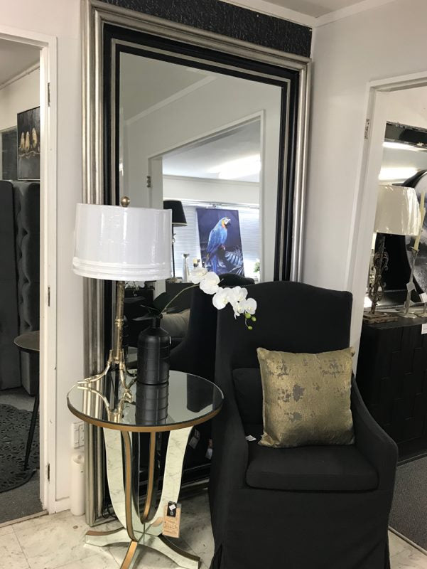 Black/ Champagne Large Mirror