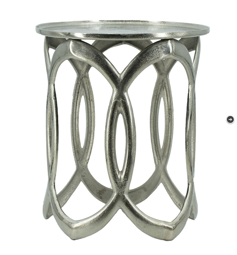 Large Silver Nesting side table