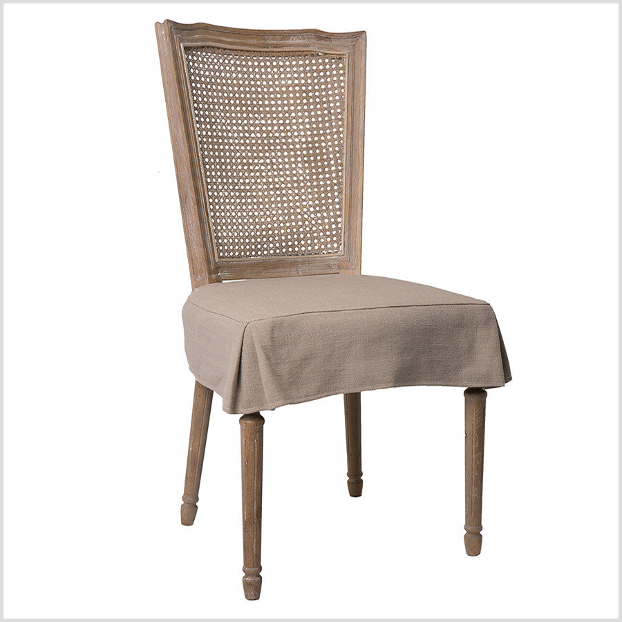 French Country Dining Chair Slip Cover Homeabout