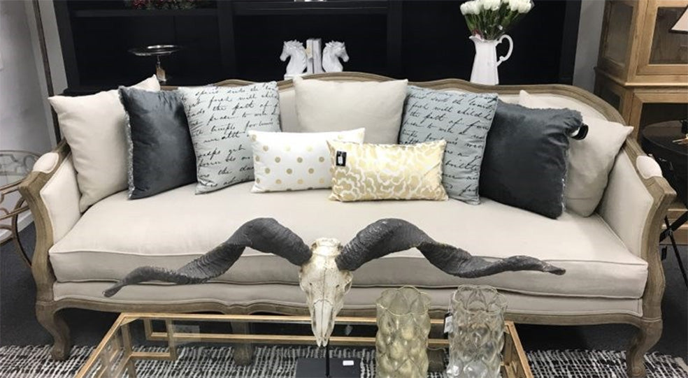 Rue Du Bac French Country Linen Feather Down Sofa