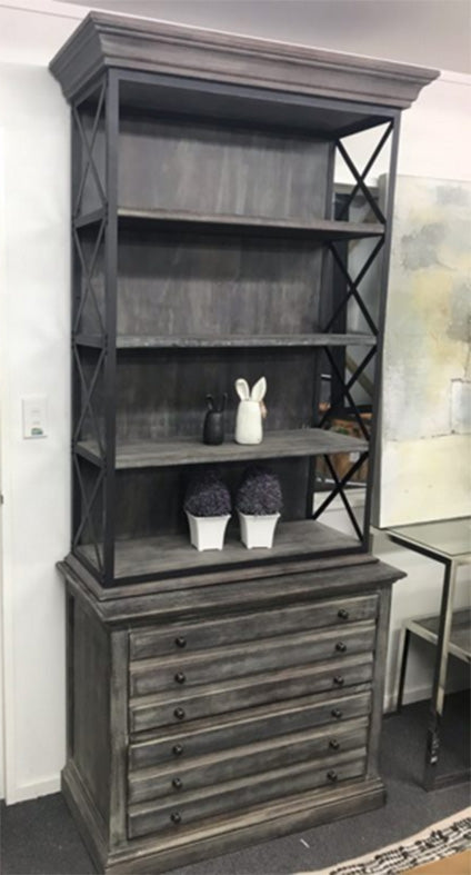 Industrial Bookshelf Single Bay