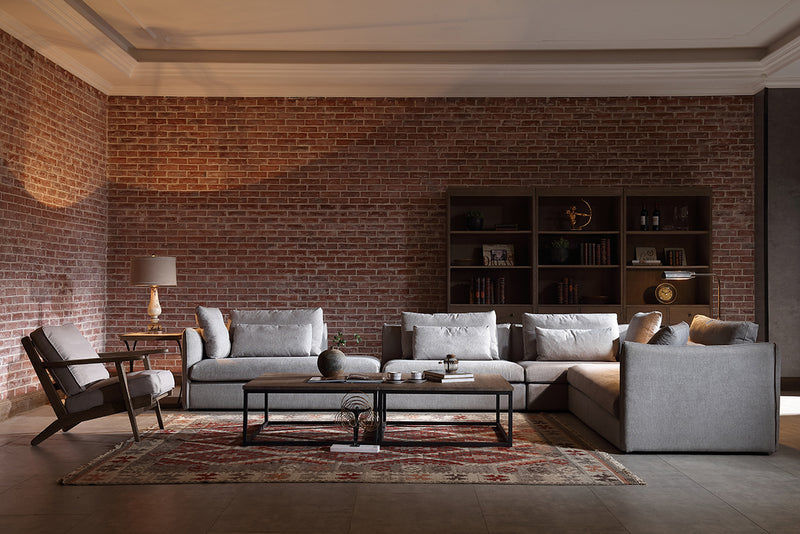 Modern Classic Clarck Grey Sectional