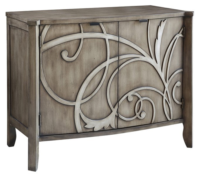 Veranda 2 Door Cabinet/ Raised Scroll detail