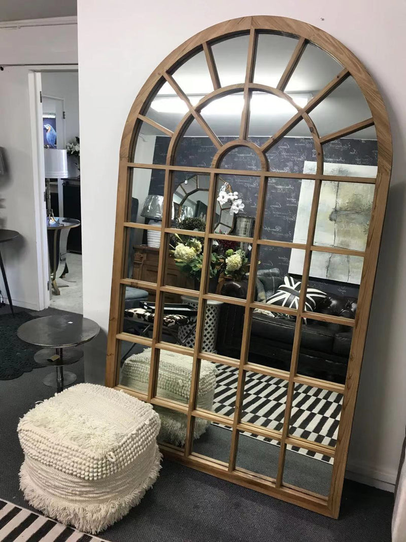 Large wood mirror