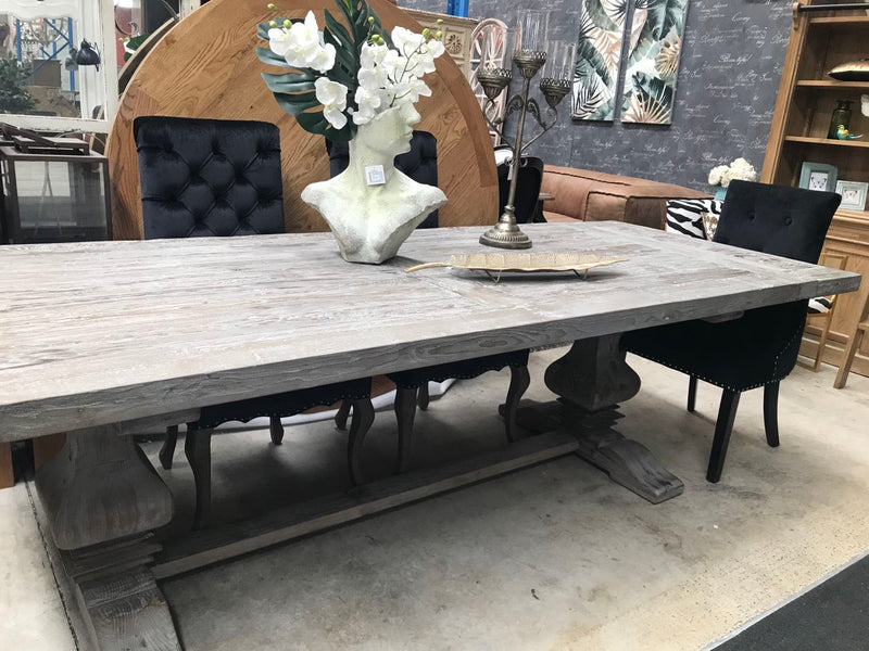 Reclaimed Timber 2.4-3m extended Dining Table