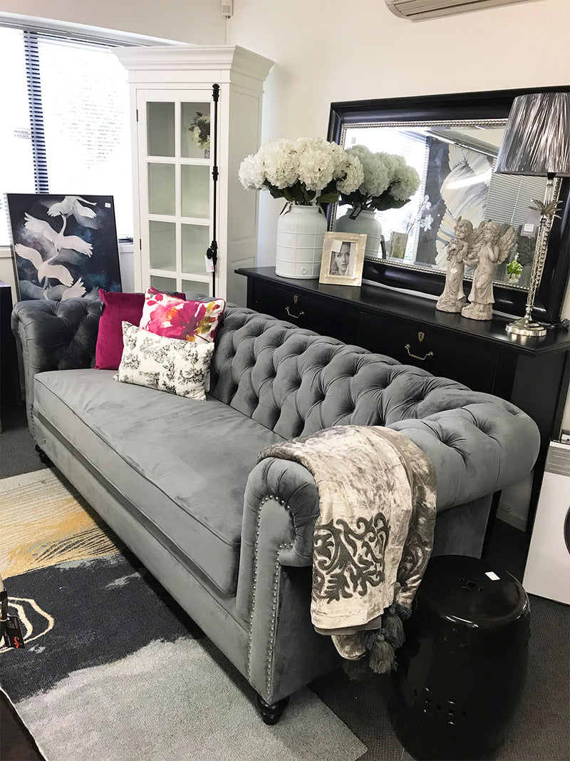 Chesterfield 2 seater Charcoal Color