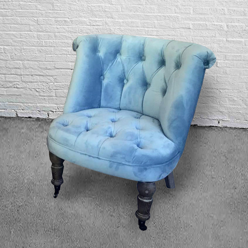 Modern Classic Occasional Linen Tufted Club Chair