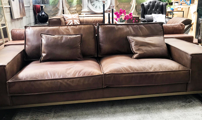 Leather Lounge 3 seater Full Grain
