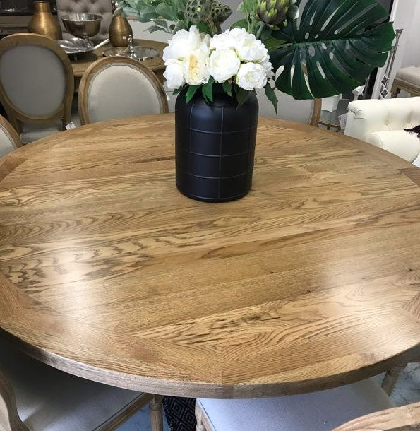 OAK--7 Piece Dining Suite--Round table