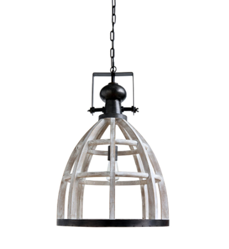 Wood & Metal Pendant Lamp