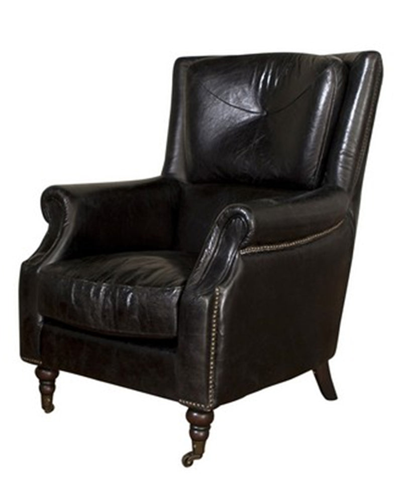 Armchair Leather BELON BLACK