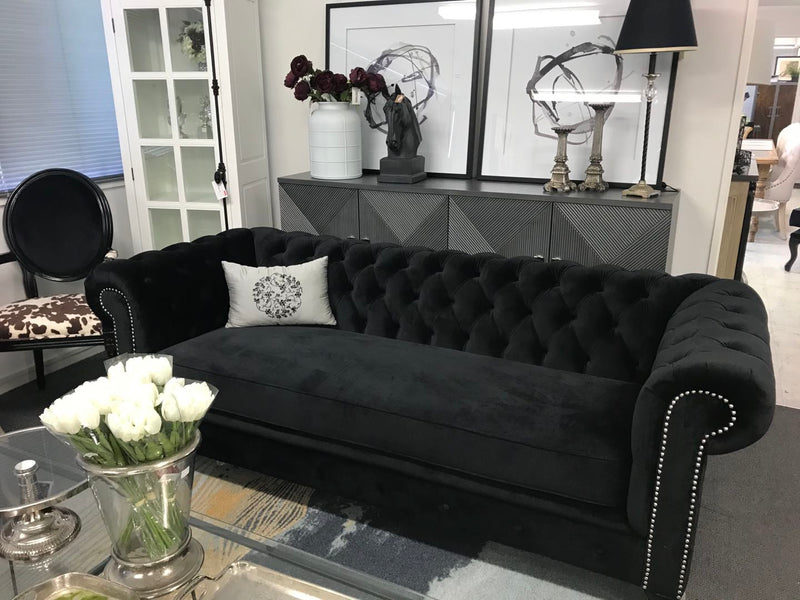 Chesterfield Sofa 3 seater Black