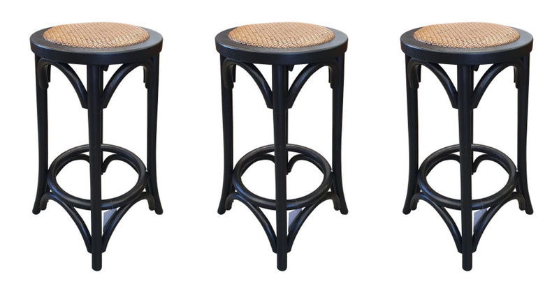 SPECIAL Bar Stools in Black X3