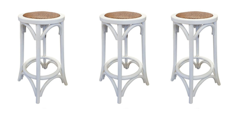 SPECIAL Bar Stools in White X3