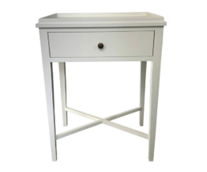Modern Classic-Bedside table One Drawer--White