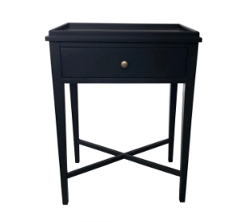 Modern Classic-Bedside table One Drawer--Black