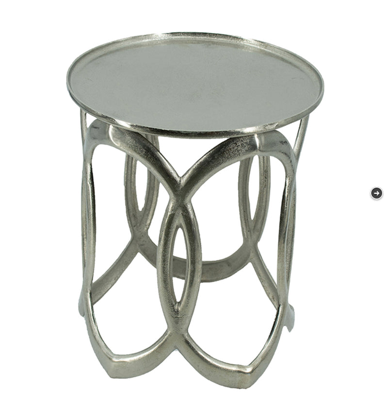 Small Silver Nesting side table