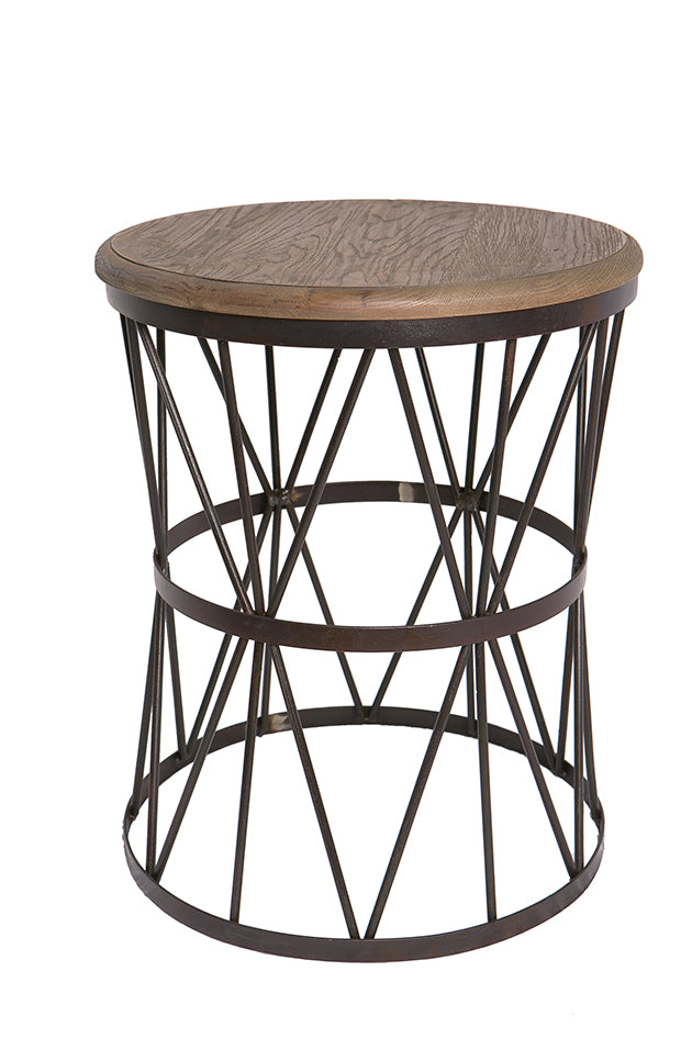 Mindy Industrial Loft Side Table