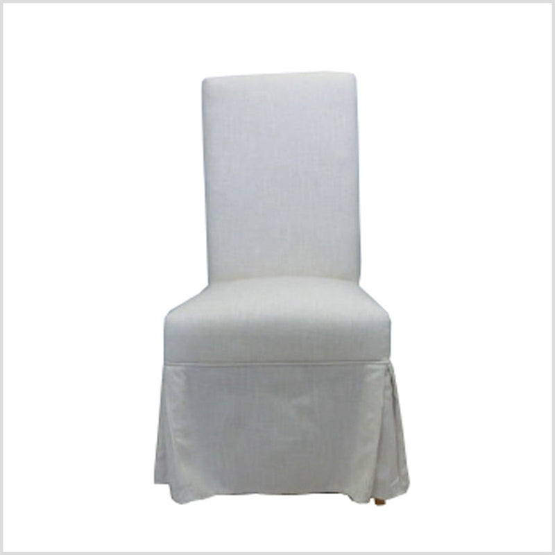 BELGIAN SLOPE ARM SLIPCOVERED SIDE CHAIR