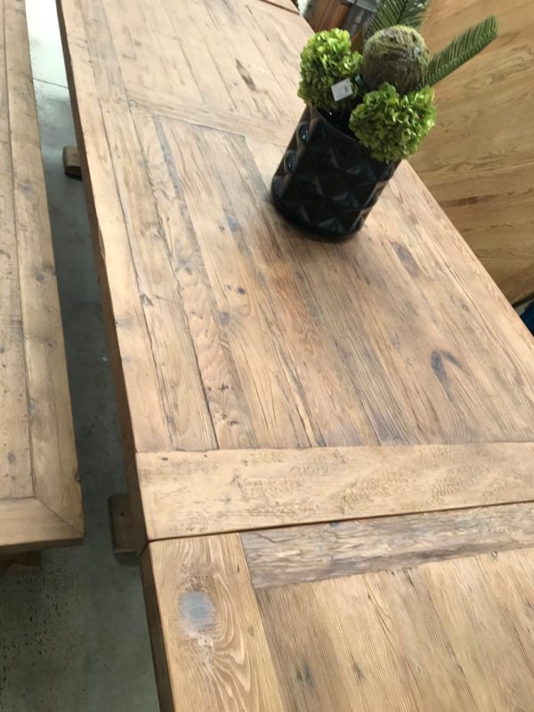 3.3m Reclaimed Wood Trestle Dining Table
