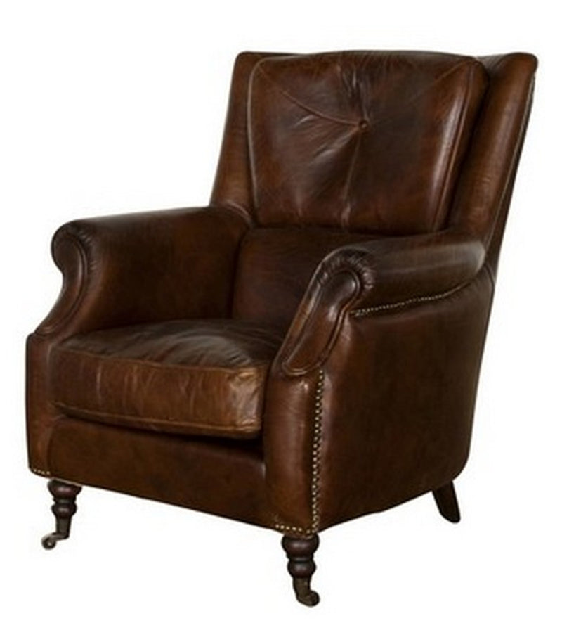 ARMCHAIR VINTAGE CIGAR BROWN