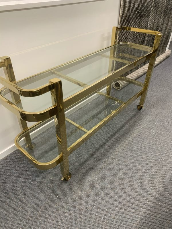 Drinks Trolley in Gold Chrome