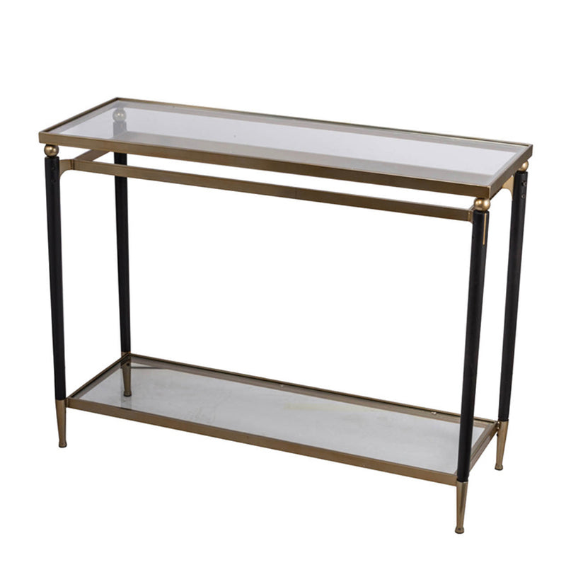 Modern Chic Gold black Console Table