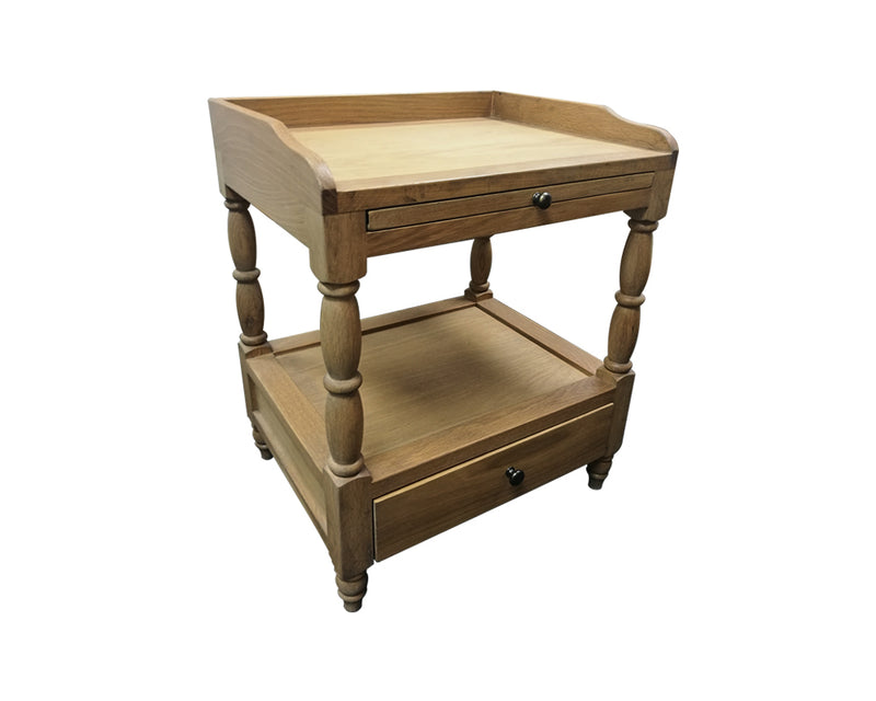 French Country Bedside--One tray, one drawer