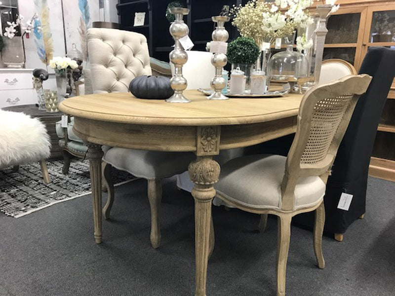 """Louis XV"" Hamptons OAK Extension Dining Table"