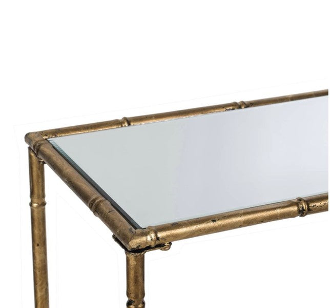Antique Gold Coffee table Mirror Top