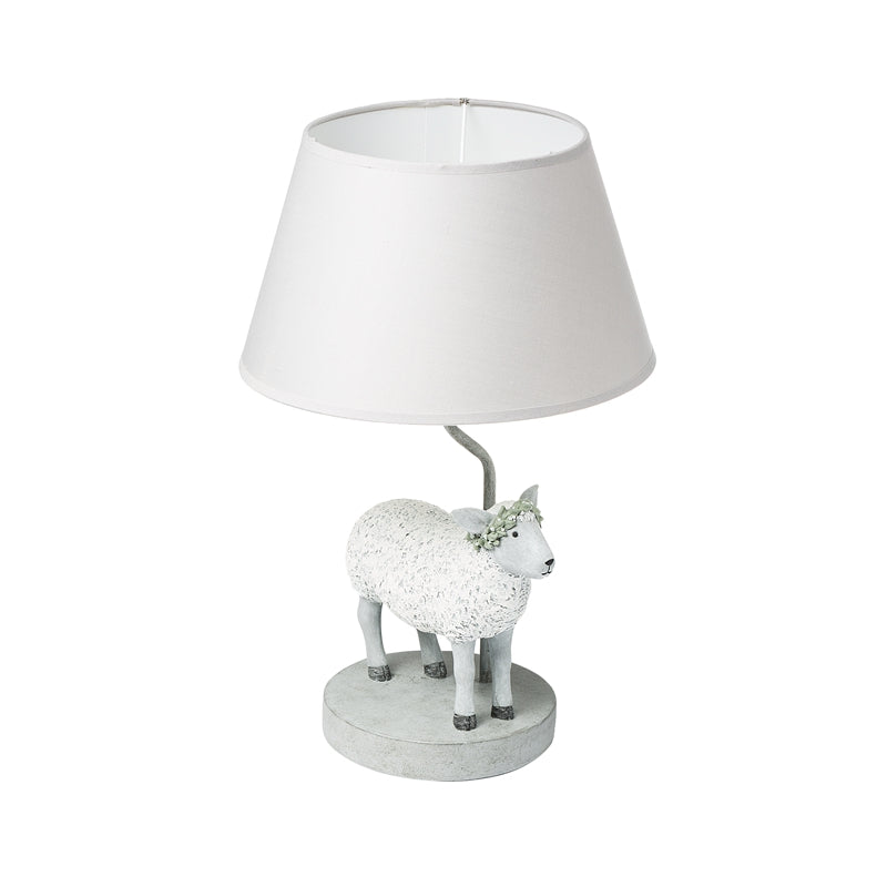 Agglomerated Stone Resin Sheep Table Lamp