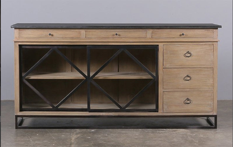 Industrial Loft Wood Metal Sideboard