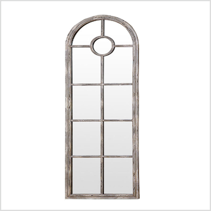 Distressed White Metal Framed Wall Mirror – Homeabout