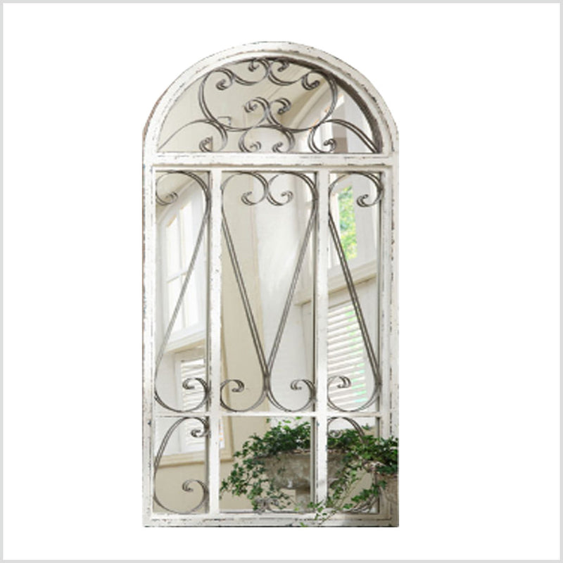 Metal Framed Arched Mirror