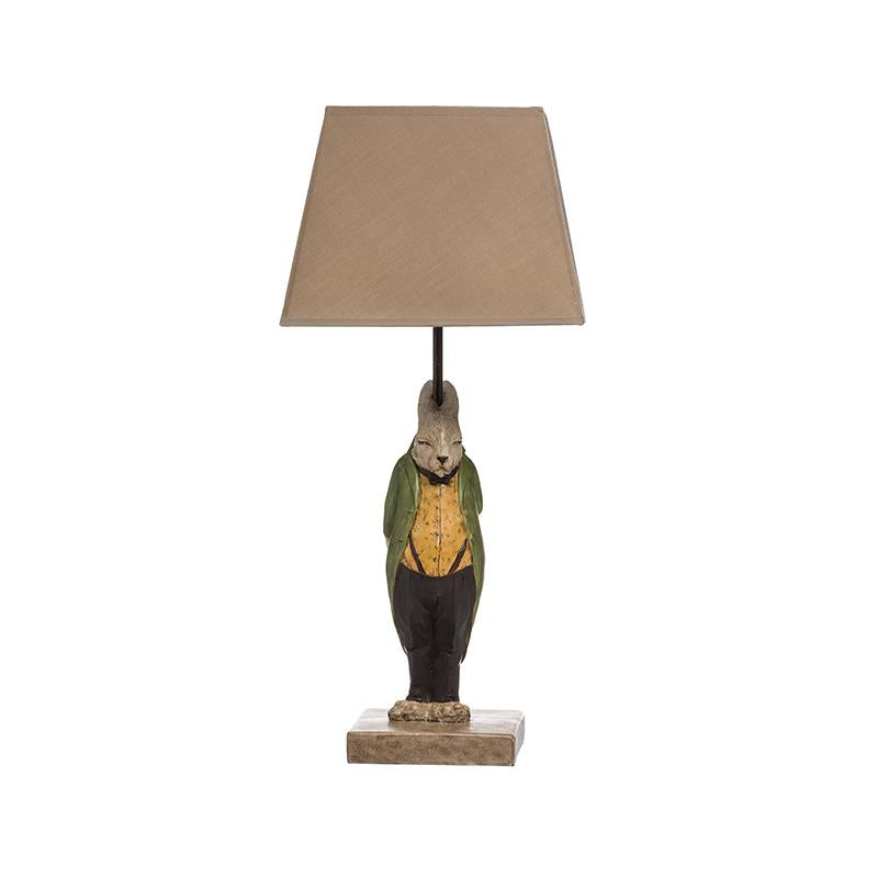 Resin Hare Table Lamp w/ Shade