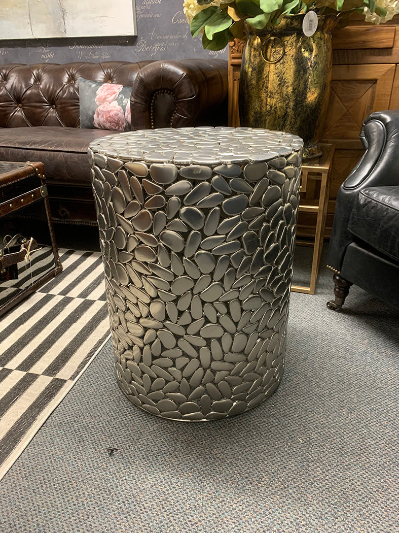 Modern Classic Nickle color Side End Table