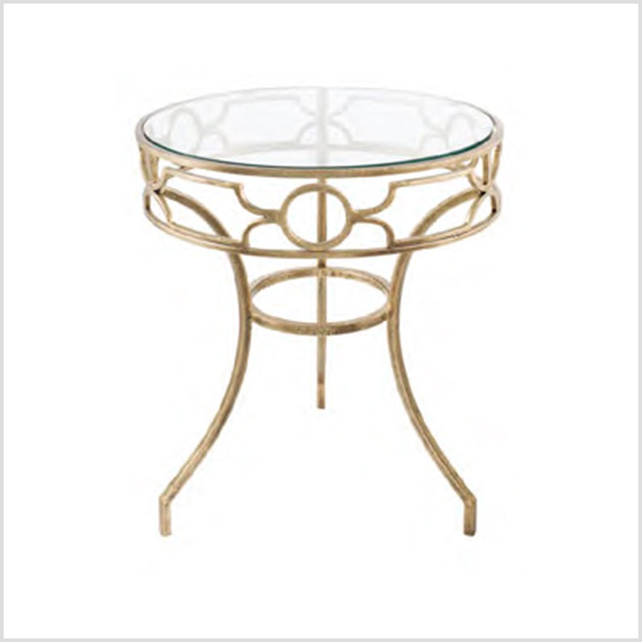 glass side table. Sofia Antique Brass Metal \u0026 Glass Side Table