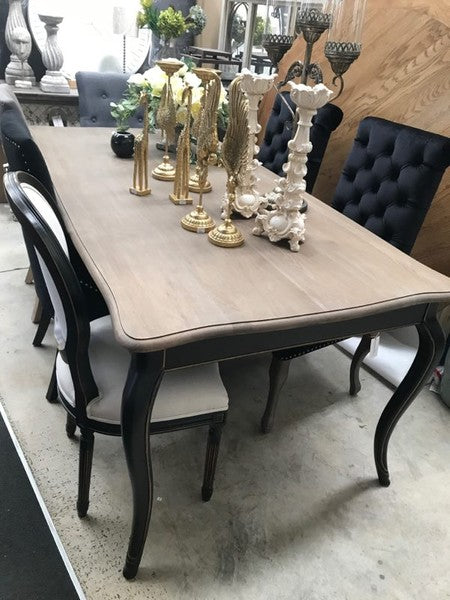 French Provincial OAK Dining table 2m