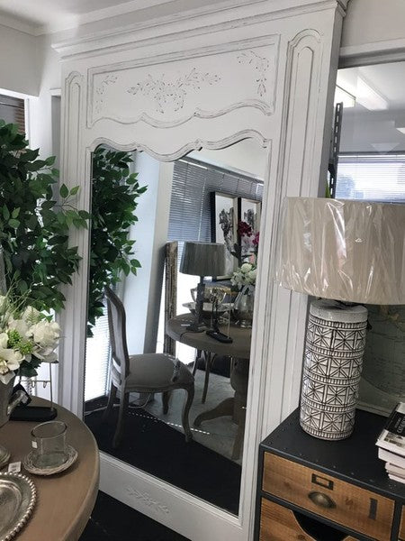French Country Large wood frame mirror