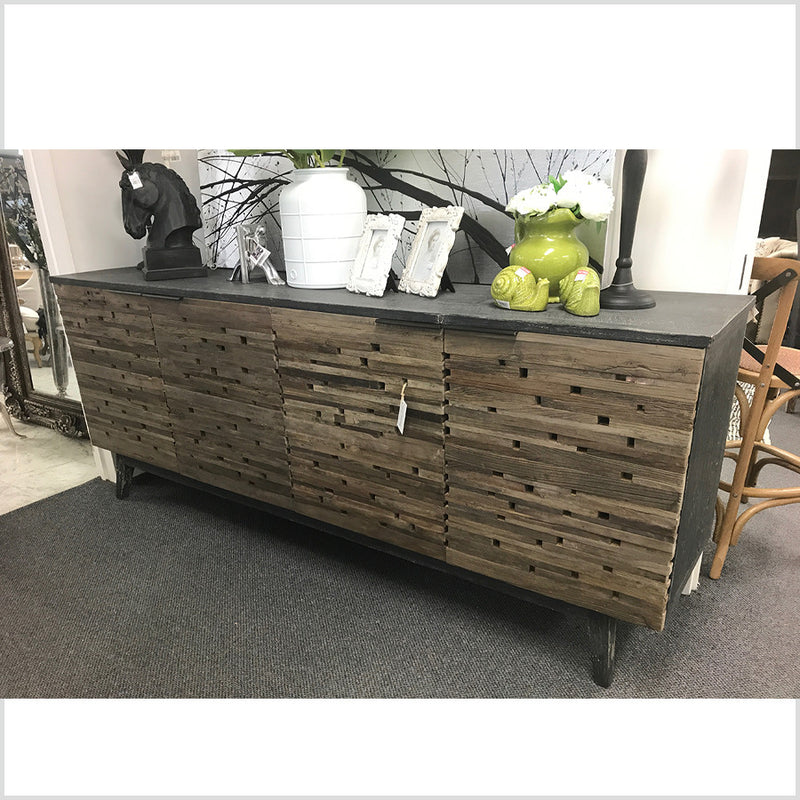 Rustic Lodge Brown Relcaimed Wood Buffet Sideboard