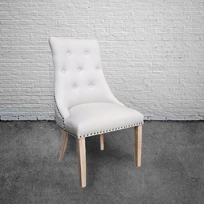 Modern Classic Tufted Dining Chair   Beige Color
