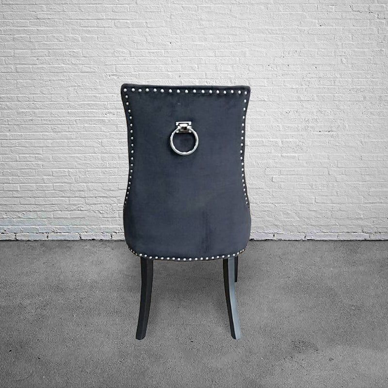 Modern Classic Tufted Dining Chair  BLACK VELVET