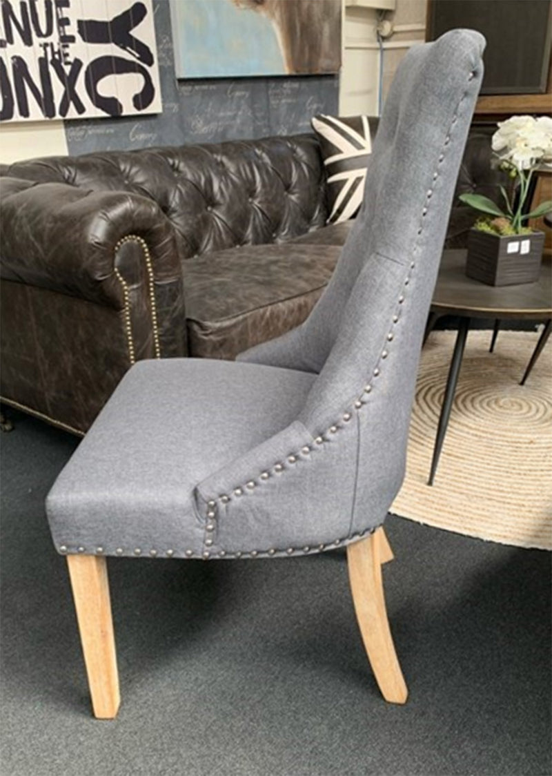 Modern Classic Tufted Dining Chair Grey Color