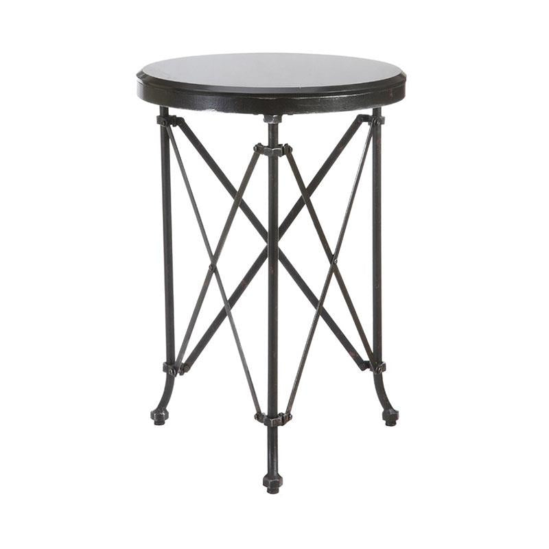 Black Metal Table w/ Marble Top