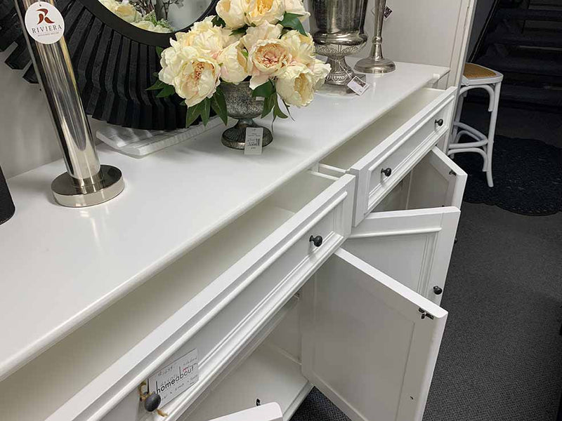 French Country Style  Buffet Sideboard in White