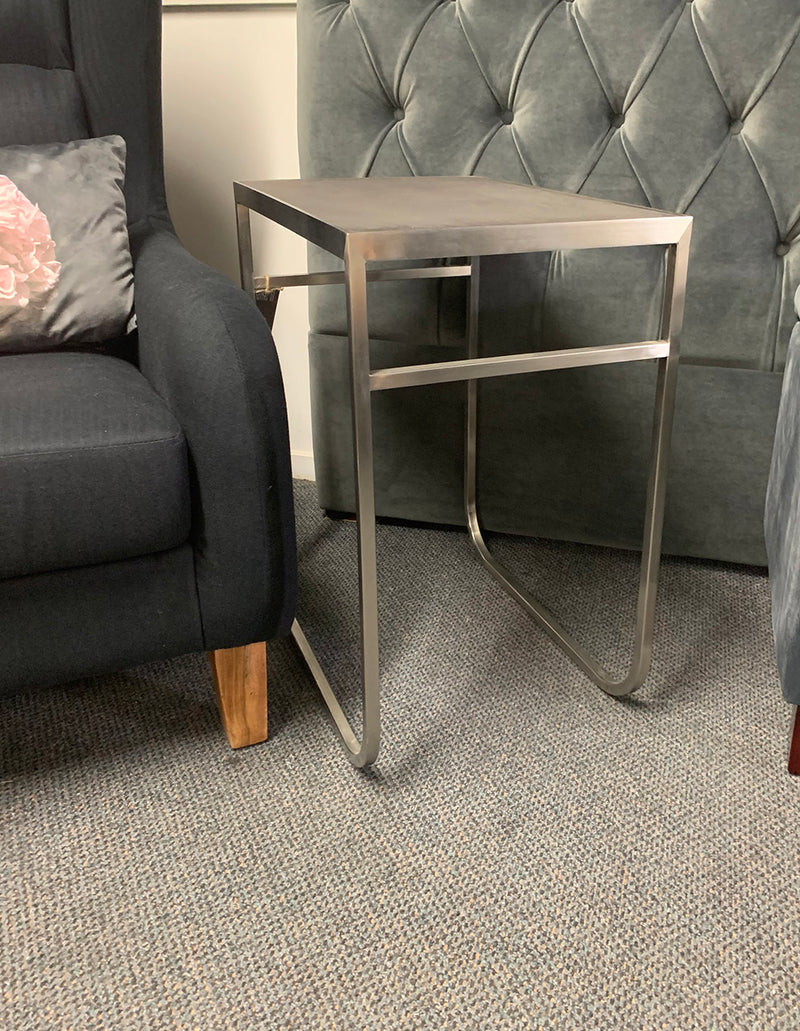 Brushed Stainless Steel Side Table