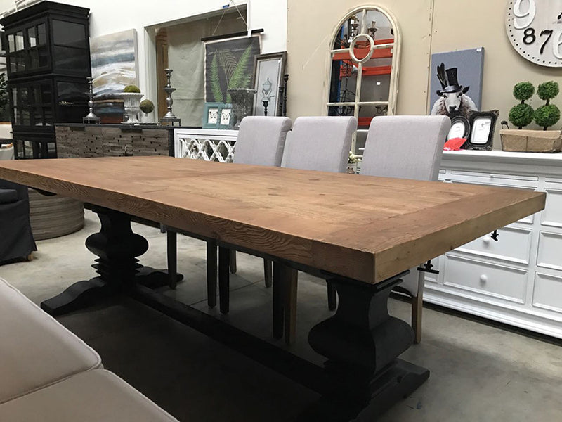 2.4m--- 3m Reclaimed Wood Trestle Dining Table
