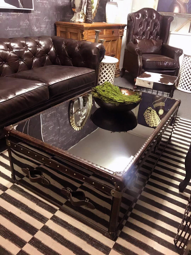 Industial Mirror side Coffee Table