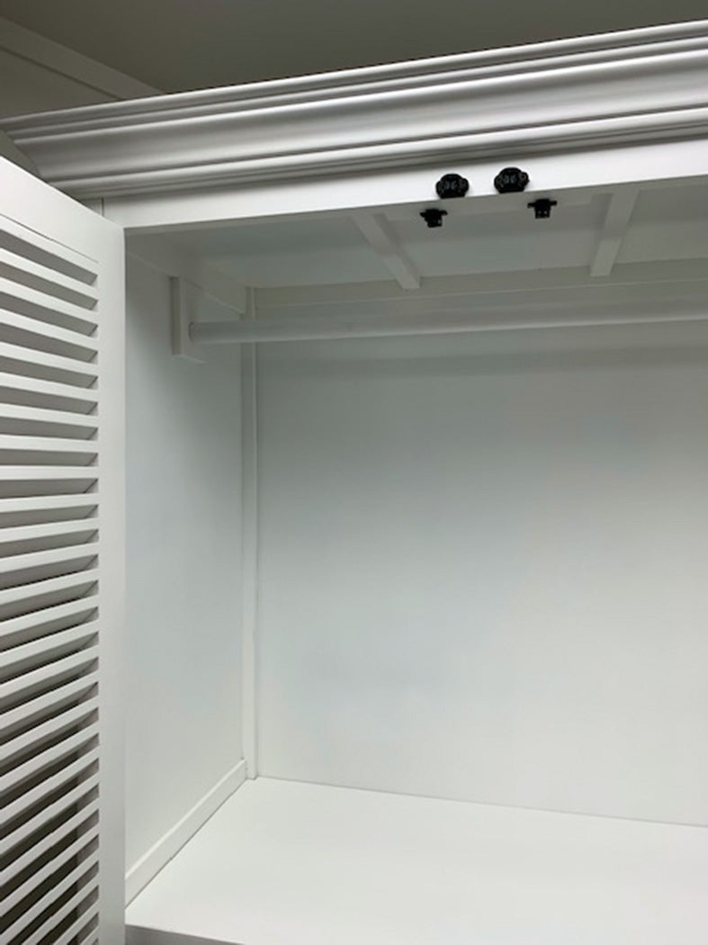 SHUTTER DOUBLE-DOOR CABINET in white color